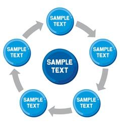 presentation diagram Business process-marketing vector image