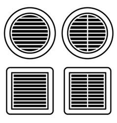 ventilation grille black symbol vector image vector image