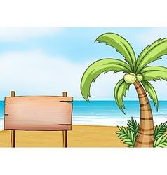 A signboard in the seashore vector image