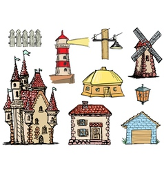 architectural objects vector image vector image
