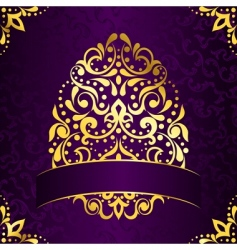 Easter frame with egg vector image vector image