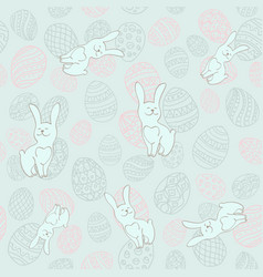 seamless background to easter with eggs and vector image vector image