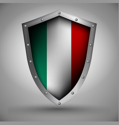 shield with the inalian flag vector image vector image