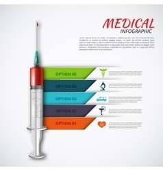 syringe for infographics vector image vector image