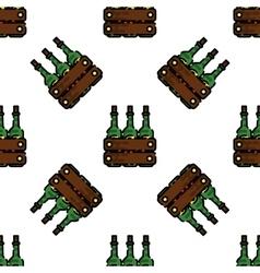 Wine flat pattern vector image vector image