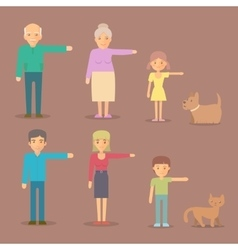 Flat characters for animation vector image vector image