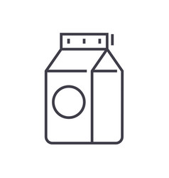 milk line icon sign on vector image vector image
