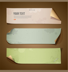 Vintage paper long collections vector