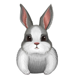 white bunny isolated on white vector image