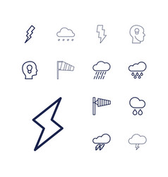 13 storm icons vector