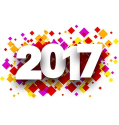 2017 background with rhombus vector
