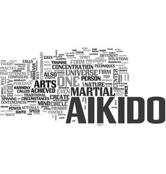 aikido text word cloud concept vector image