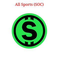All sports soc logo vector