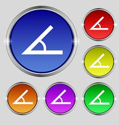 Angle 45 degrees icon sign Round symbol on bright vector