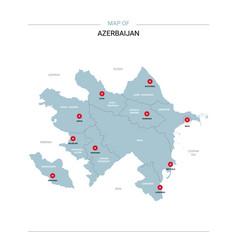 azerbaijan map with red pin vector image
