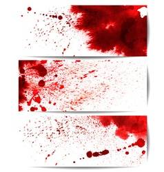 Background Set of Red Bloodstain Splashes vector