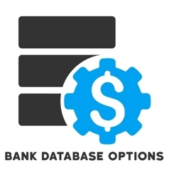 Bank Database Options Icon With Caption vector