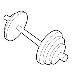 Barbell icon outline style vector