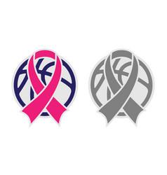 Basketball and ribbon vector