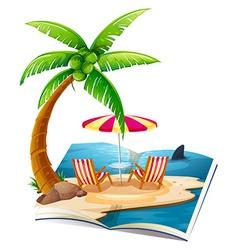 Beach book vector image