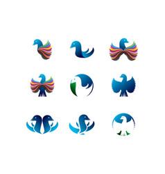 Bird logo collection vector