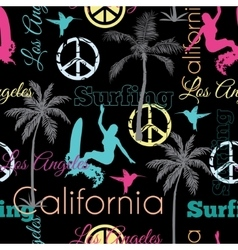 California Colorful On Black Seamless vector image
