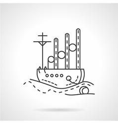 Cargo ship icon line style vector image