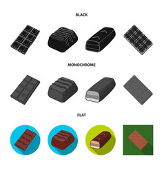 Chocolate and flavor sign vector
