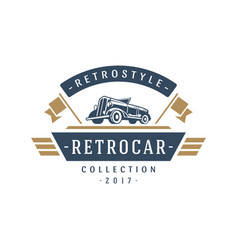 Classic car logo template design element vector