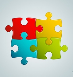 Colorful puzzle pieces vector