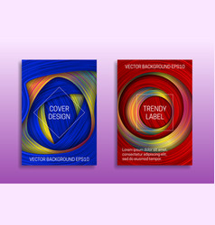 cover templates with colored and holographic vector image