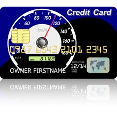 Credit card speedometer vector image