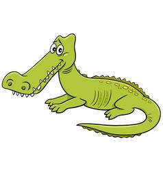Crocodile wild animal character cartoon vector