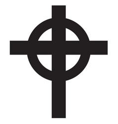 cross christian religion symbol vector image
