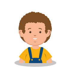 cute little boy icon vector image