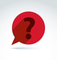 FAQ ask and answer theme interrogation red speech vector