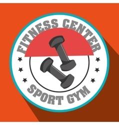 Fitness center sport gym dumbbell vector