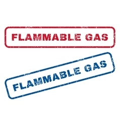 Flammable gas rubber stamps vector