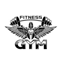 for a gym with a spartan helmet vector image