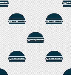 Hamburger icon sign seamless pattern with vector