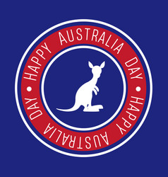 happy australia day label vector image