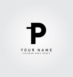 initial letter ip logo - simple business logo vector image
