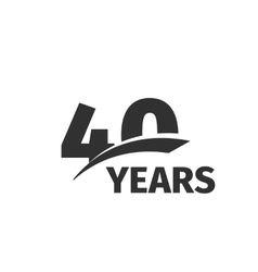 Isolated abstract black 40th anniversary logo vector