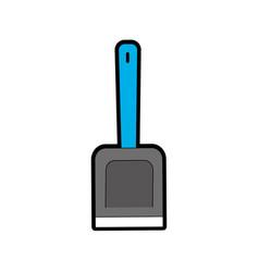 isolated shovel design vector image