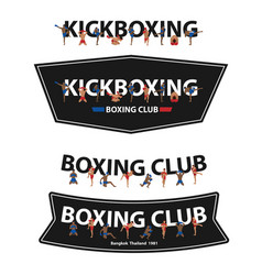 kickboxing with thai boxing action on flat vector image