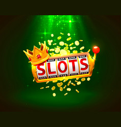 king slots 777 banner casino on green vector image