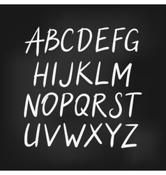 Latin english alphabet simple font vector