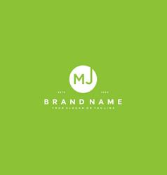 Letter mj logo design vector