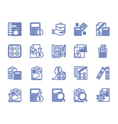 lines icons vector image