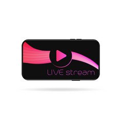 live video streaming template vector image